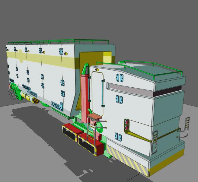 3d model trucks cars