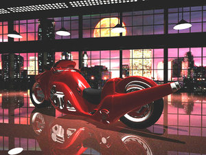 3d motorcycles sports model