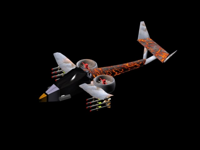 orca helicopter plane 3d model