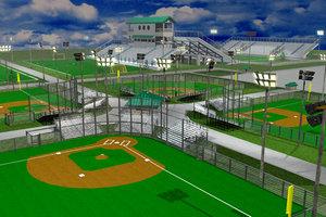 3d sports complex model