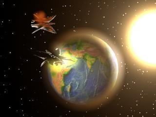 3d earth sun model