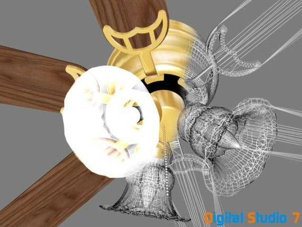 ceiling fan light - 3d model