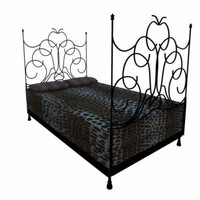 leopard bed 3d model