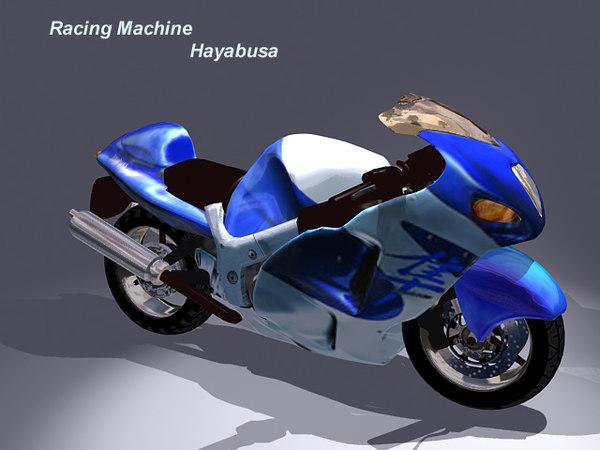 3ds max hayabusa bike
