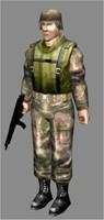 man military 3d model