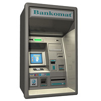 cash machine atm 3d model
