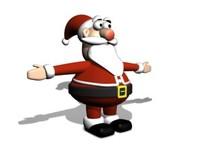 3d santa type toon