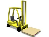 forklift toon 3d max