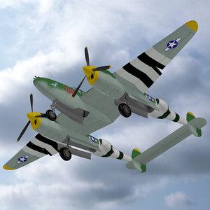 3d model ww2 prop fighter plane