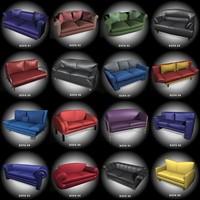 3d model 16 sofas mr
