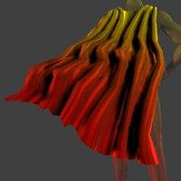 cape effects poser 3d model