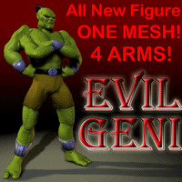 geni figure arms 3d model