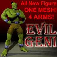 geni figure arms 3d model