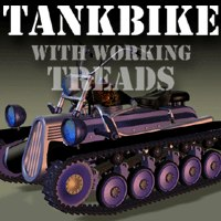 tankbike tank treads bike 3d model