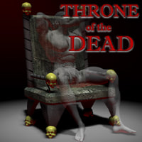 3d gothic throne model