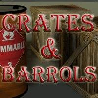 crates barrels 3d model