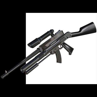 futuristic space rifle
