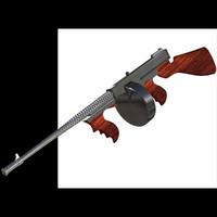 machinegun tommygun 3d pz3