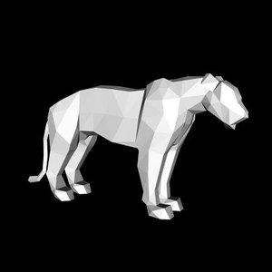 lion lioness 3d 3ds