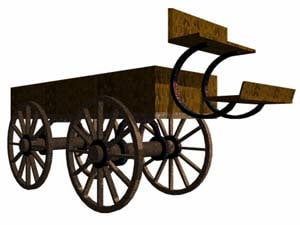 old wagon 3d 3ds