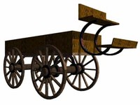 3d model old wagon