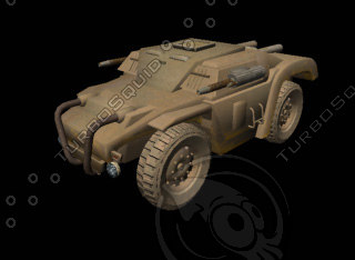 3d armoured car model