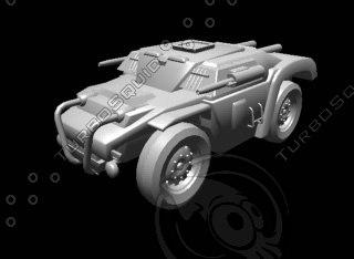 3d armoured car
