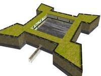 fortress 3d model