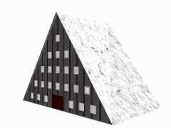 3d model of ski lodge