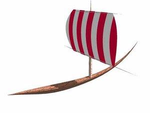 viking boat 3d model