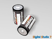 3d model energizer batteries