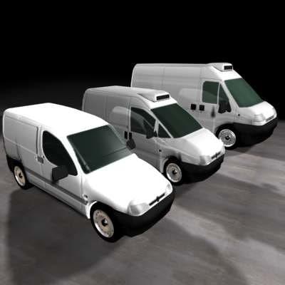 cars peugeot 3d model
