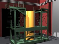 factory industrial facility 3d max
