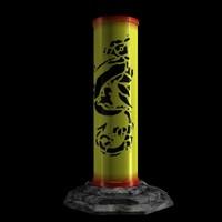 magic silk tube 3d model