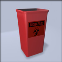 biohazard waste 3d model
