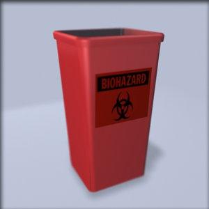 biohazard waste 3d model