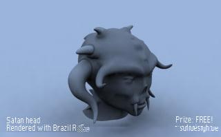 free satan 3d model