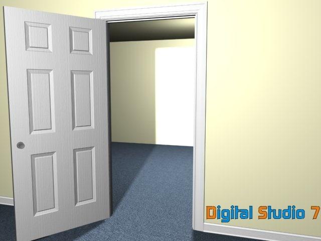 3d model 6 door
