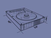 internal hard drive 3d model