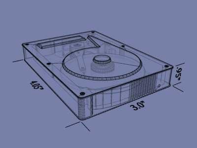 internal hard drive 3d model