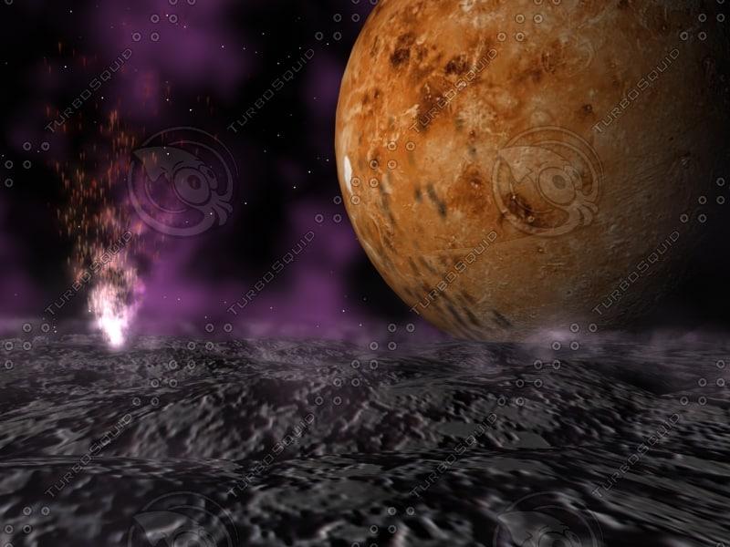 alien space backround 3d max