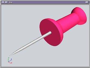 3d pushpin pin