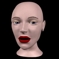 human female head 3d max