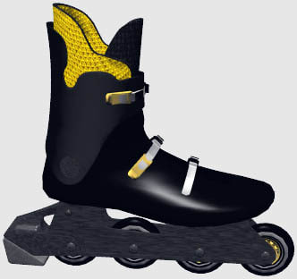 3ds max roller-blade bauer boot