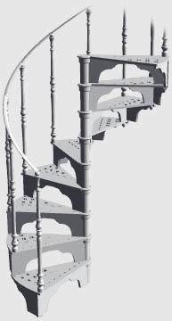 cast spiral stair 3d model