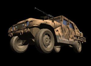 armoured car mer 3d lwo