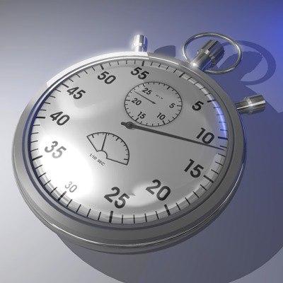 3d stopwatch stop watch