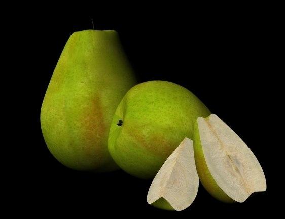 3d fruit pear