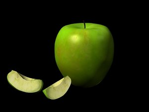 3d model apple granny smith