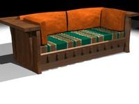 3d model woodsofa